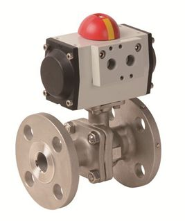Picture for category Pneumatic Actuator with 2 PC Flanged Stainless Steel Valve (PHS FL - AP Series)