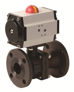 Picture for category Pneumatic Actuator with 2 PC Flanged Carbon Steel Valve (PHC FL - AP Series)