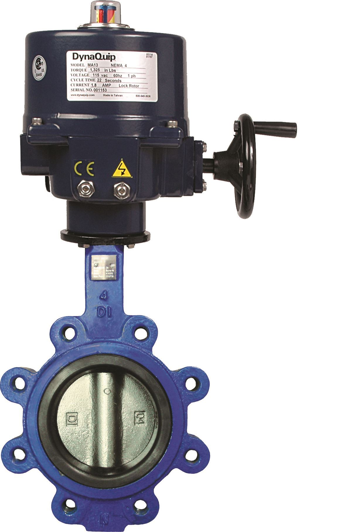 72F60903E07, DynaFly Series - Butterfly Valve with Electric Actuator - 700/722 Series