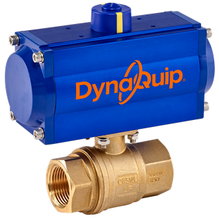 Picture for category PHH SERIES - 2PC Brass Ball Valve - Pneumatic Actuator