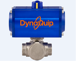 Picture for category PYSG SERIES - 3 WAY Stainless Steel Ball Valve - Pneumatic Actuator