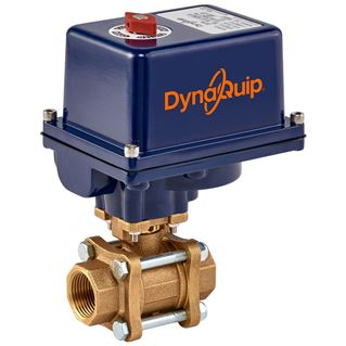 EVA SERIES - 3 PC Bronze Ball Valve - Electric Actuator