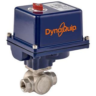 EYSA SERIES - 3 WAY Stainless Steel Ball Valve - Electric Actuator
