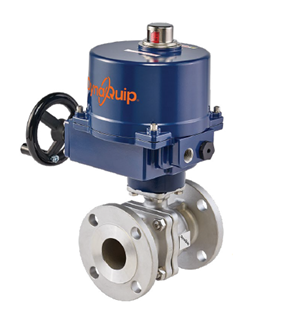 E5S SERIES - 2 PC Flanged Stainless Steel Ball Valve - Electric Actuator