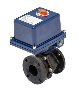 E5C SERIES - 2 PC Flanged Carbon Steel Ball Valve - Electric Actuator