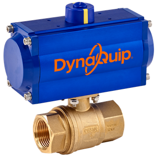 PHH SERIES - 2PC Brass Ball Valve - Pneumatic Actuator