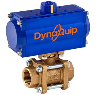 PVA SERIES - 3 PC Bronze Ball Valve - Pneumatic Actuator
