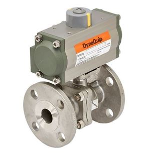 P5S SERIES - 2 PC Flanged Stainless Steel Ball Valve - Pneumatic Actuator