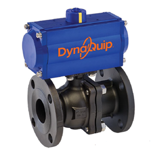 P5C SERIES - 2 PC Flanged Carbon Steel Ball Valve - Pneumatic Actuator
