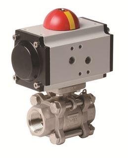Pneumatic Actuator with 3 PC Stainless Steel Ball Valve (PVS - AP Series)