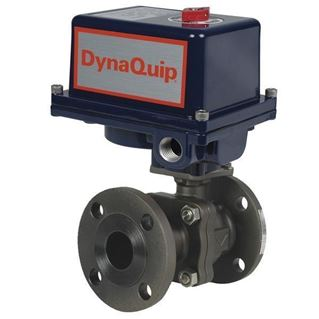 EHC SERIES - 2PC Flanged Carbon Steel Ball Valve - Electric Actuator