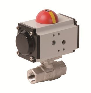 Pneumatic Actuator with 2 PC Stainless Steel Ball Valve (PHS - AP Series)