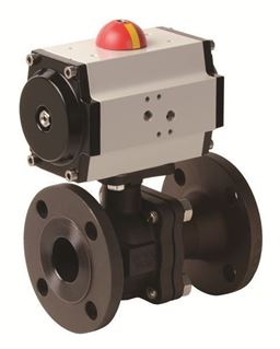 Pneumatic Actuator with 2 PC Flanged Carbon Steel Valve (PHC FL - AP Series)