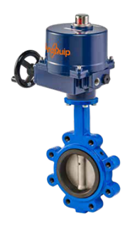 dynafly series butterfly valve with electric actuator 700 722 series