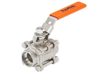 Stainless Steel 3-Piece Bolted In-Line Valve - V3S & V6S Series