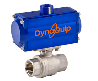 PAS SERIES - 2 PC High Pressure Stainless Steel Ball Valve - Pneumatic Actuator