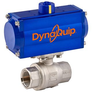 P2S SERIES - 2 PC Stainless Steel Ball Valve - Pneumatic Actuator