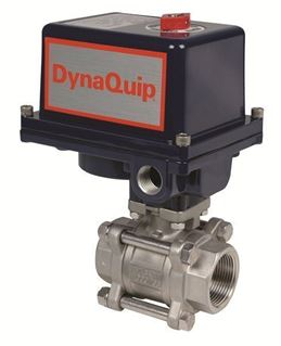 EVS SERIES - 3 PC Stainless Steel Ball Valve - Electric Actuator