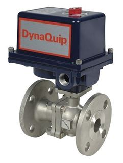 EHS SERIES - 2 PC Flanged Stainless Steel Ball Valve - Electric Actuator