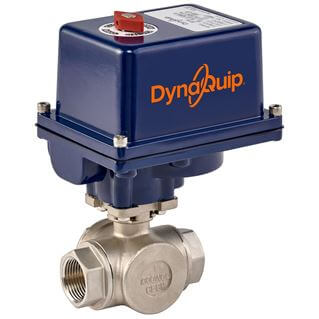 EYSG SERIES - 3 WAY Stainless Steel Ball Valve - Electric Actuator